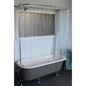 Claw Foot Tub Wall Mounted Shower Curtain Rod Add A Shower With Chrome For Sales For Sale In