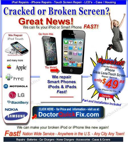 cracked iphone screen repair verizon
