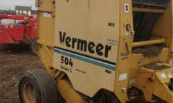 . 1998 Vermeer 504L $7900 Call (315) 541-4370 ext. 31 Bale Size: 119x119 1998 VERMEER 504L, 4 X 5, SILAGE SPECIAL, TWINE ONLY, NEEDS PICK UP TINES Vehicle Price: 7900 Odometer: Engine: Body Style: Round Balers Transmission: Exterior Color: Yellow