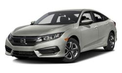 2016 Honda Civic LX - $20,275 4-Wheel Disc Brakes, 5-Passenger Seating, Am/Fm, Adjustable Steering Wheel, Air Conditioning, Anti-Lock Brakes, Anti-Theft System, Automatic Headlights, Aux Audio Adapter, Braking Assist, Bucket Seats, Child Safety Locks,