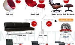 �� Arco Lamp- Barcelona Eames Lounge Womb chair -80%OFF SALE� MANHATTANHOMEDESIGN COUPON MANHATTAN HOME DESIGN COUPONS CUPON manhattan home design coupon cupons coupons manhattanhomedesign.com **charles eames furniture eames plywood chair charles eames