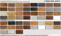 Flooring options for basement flooring, laundry room flooring, etc - Cork flooring starting $2.29/sf FORNA FLOATING CORK FLOORING   OUR FULL RANGE OF UNICLIC CORK FLOORING     Ambrosia Marble $3.39/sq.ft Autumn Birch $3.69/sqft Autumn Leaves $2.99/sqft