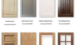 New unfinished kitchen cabinet doors Made any size to replace your existing cabinet doors. Crafted from high quality hardwoods for yourneeds High quality custom cabinet doors made any size to fit your cabinets. Large selection of quality unfinished