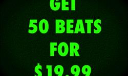 GET 50 BEATS FOR ONLY $19.99 USE FOR MIXTAPES, ALBUMS, RADIO, SHOWS, ETC... CLICK HERE NOW