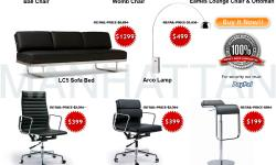 BIG SALE& ARCO LAMP- EAMES LOUNGE- LC5 LE CORBUSIER-OUTDOOR WICKER SOFA- Arco Floor Lamp - Eames Lounge Chair - www.MANHATTANHOMEDESIGN.COM http://manhattanhomedesign.com/arco-lamp.html ARCO FLOOR LAMP - EAMES LOUNGE CHAIR & OTTOMAN- BALL CHAIR EERO